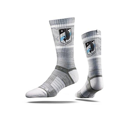 - Strideline MLS Minnesota United FC Premium Athletic Crew Socks, One Size, Gray