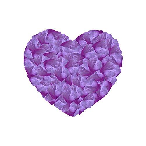 Neo LOONS 1000 Pcs Artificial Silk Rose Petals Decoration Wedding Party Color Lavender & Purple ()