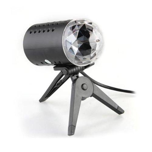 3W LAMPADA LED LUCI RGB ROTANTE EFFETTO DISCOTECA PARTY DISCO