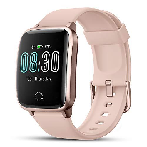 LIFEBEE Smartwatch, Reloj Inteligente Impermeable IP68 con Monitor de Sueño Pulsómetros Cronómetros Contador de Caloría, Pulsera de Actividad Inteligente para Hombre Mujer niños con iOS y Android