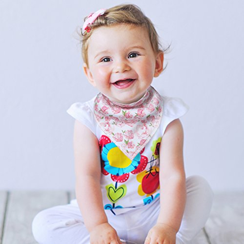 10-Pack Baby Girl Bandana Drool Bibs for Drooling and Teething by MiiYoung by MiiYoung (Image #4)