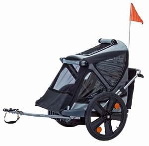 Bellelli B-TAXI Bluecoal - Remolque infantil para bicicleta (2 plazas, bolsa incluida)