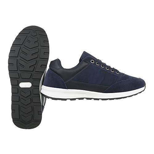 Uomo Scuro Ital Blu Sneaker design wxqExAXP
