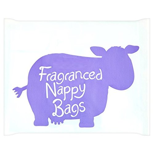 Brand New Pack of 200 Disposable Fragranced Nappy Bags Sacks With Tie Handles m savers 0897778