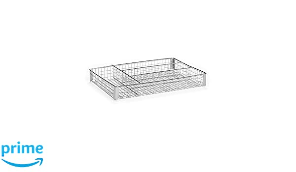 Amazon.com: Homz Metal Mesh, Chrome, 4 Compartments, Fits Most Standard Size Kitchen Drawer Organizer: Home & Kitchen