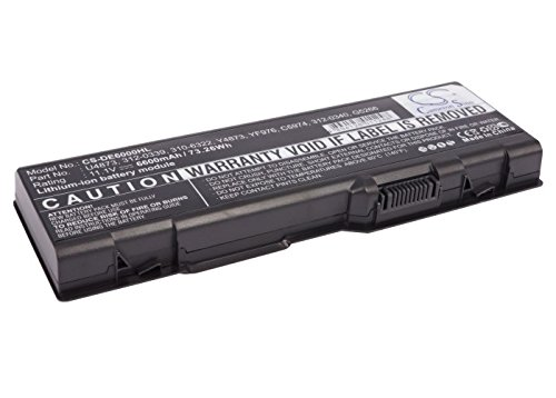 6600mAh Battery for DELL Inspiron 6000, Inspiron 9200, Inspiron 9300, Inspiron 9400, Inspiron E1705, Inspiron M1505