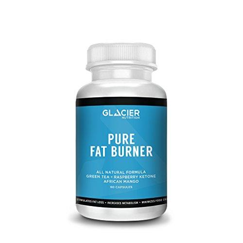 Glacier Nutrition Pure Natural Fat Burner – 60 capsules – No Dairy, Gluten, or Preservatives