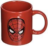 ICUP Marvel Spider-Man Face Embossed Logo Ceramic Mug, 20 oz, Clear