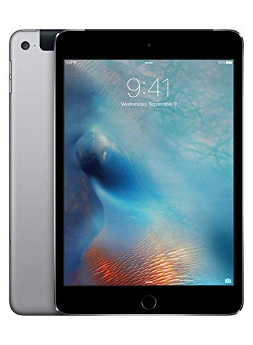 Apple iPad mini 4 (Wi-Fi + Cellular, 128GB) - Space Gray (Previous Model) (Ipad Sprint 4g)