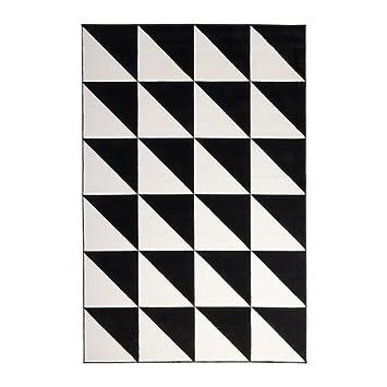 Ikea Sillerup Rug Low Pile Black White 200x300 Cm Amazon Co