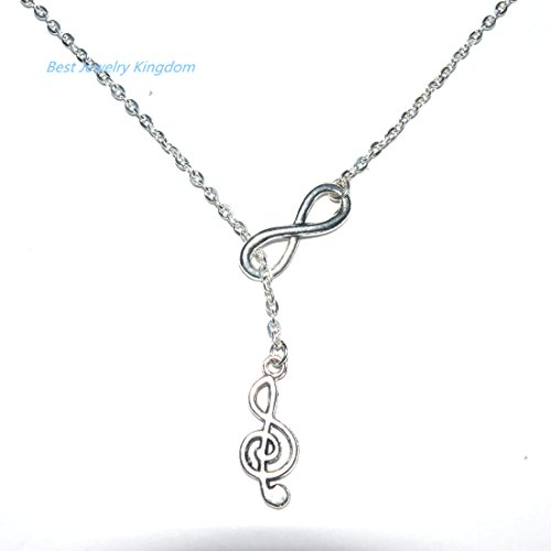 Charm Infinity I Love Music Treble Clef Musical Note Necklace,charm necklace Everyday Gift, Gift For Her ,Music Gift Necklace, best gift Pendant Necklace