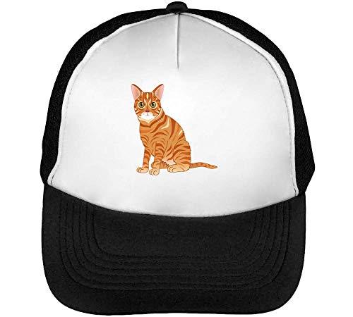 Beisbol Hombre Ginger Blanco Snapback Gorras Cat Negro HnnzaU