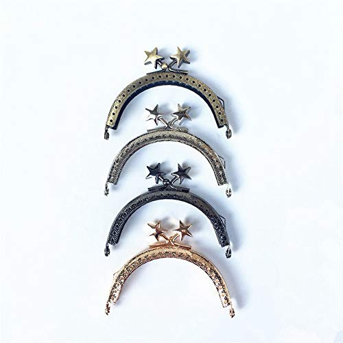 - GuoFa 4PCS/Lot 8.5CM Embossing Stars Head Purse Frame Round Handle Coin Purse Metal Frames Cluth DIY Sewing Bag Accessories