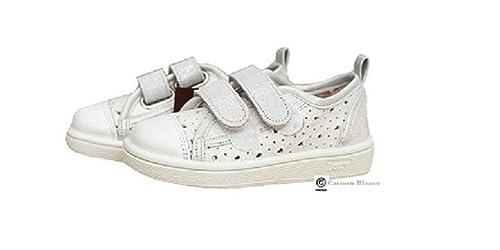 0736c936 Zapatillas Lona Niña Blanco Plata Velcro ZAPY: Amazon.es: Zapatos y  complementos