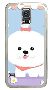Funny Cartoon Pomeranian Puppy PC Transparent Hard Case Cover Skin For Samsung Galaxy S5 I9600