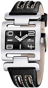 Lotus 15565/3 - Reloj de mujer de cuarzo, correa de piel color negro