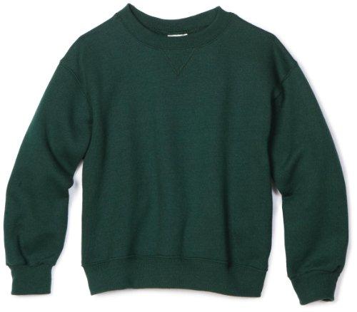 MJ Soffe Big Boys' Crew Sweatshirt, Green, Medium (Sweater Kids Green)