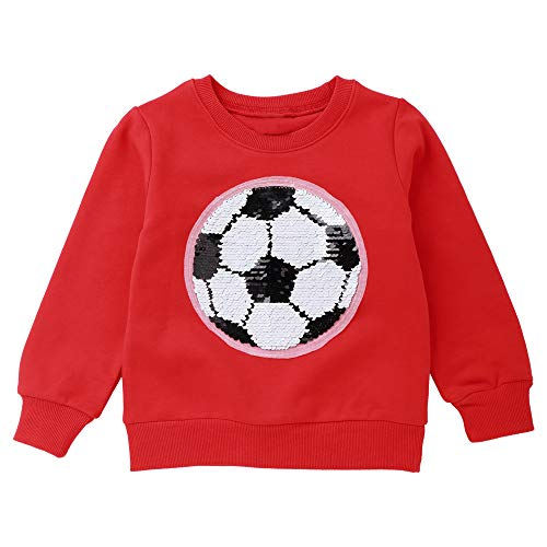 (Children's Magic Sequin Long Sleeve Sweatshirts Flip Sequin Print Cotton Clothes Pullover Top for Boys and Girls )