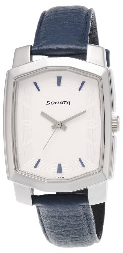 Sonata Analog White Dial Men #39;s Watch   ND7094SL01 / ND7094SL01