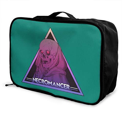 NECROMANCER Lightweight Large Capacity Portable Luggage Bag Fashion Travel Duffel Bag