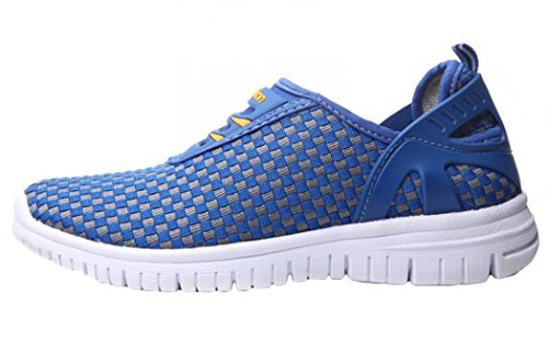 MILANAO Christmas Men's Breathable Lattice Casual Woven Overshoes Outdoor Sport Shoes(7.5 D(M)US,blue gray)