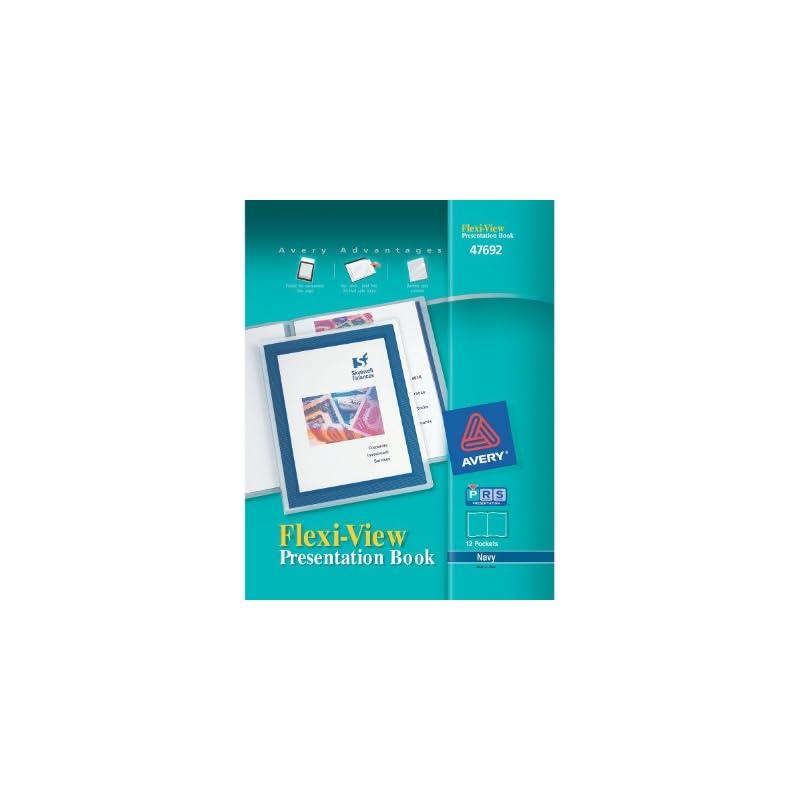 Avery Flexi-View Presentation Book, Blue