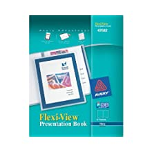 Avery Flexi-View Presentation Book, Blue, 12-Page Book (47692)