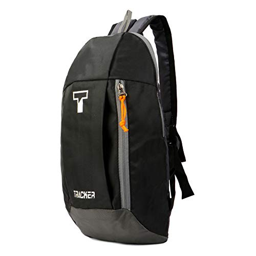 Tracker Black Small Outdoor Mini Backpack  15 litres  Casual Backpacks