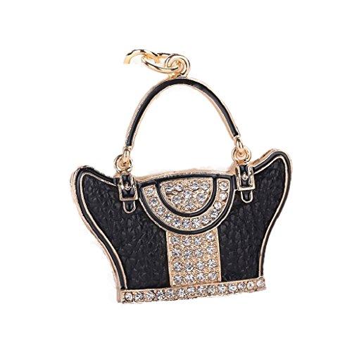 Top Cheer Tassel Bling Pave Crystal Pillow Key Chain Handbag Charm Key Fob Charm (Sparkling Pave Crystal)