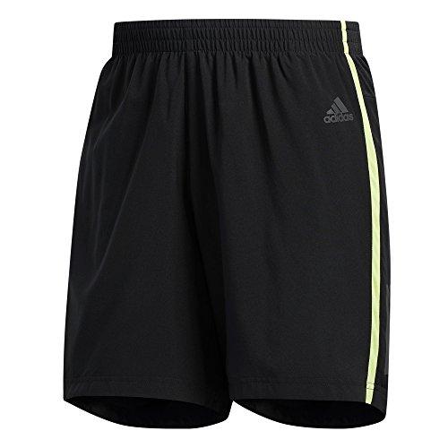 adidas Men's Response 5'' Shorts Black/Semi Frozen Yellow X-Large 5 by adidas (Image #1)