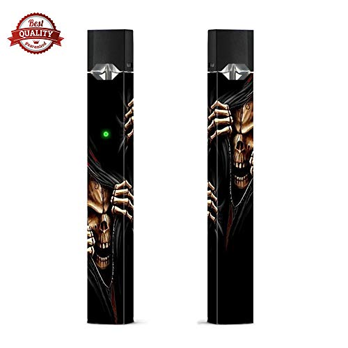 2 pcs Halloween Ghost Pattern Juul Film Skin Decal Sticker Wraps Cover Decoration (Skin Only, Device Not Included)]()