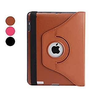 Rotating & Thicken Style Protective PU Leather Case & Stand for iPad 2/3/4 (Assorted Colors) , Black