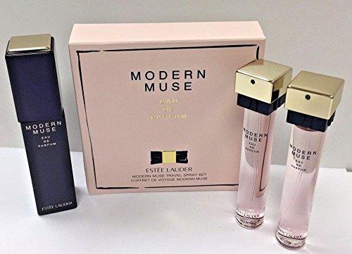 EL Modern Muse Travel Exclusive Eau de Parfum Spray Atomizer Set - 3 bottles x .50 oz / 15 ml each (Spray 0.5 Ounce Refill)