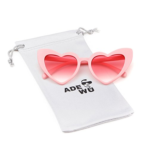 Love Heart Shaped Sunglasses Women Vintage Christmas Giftv For Girls -
