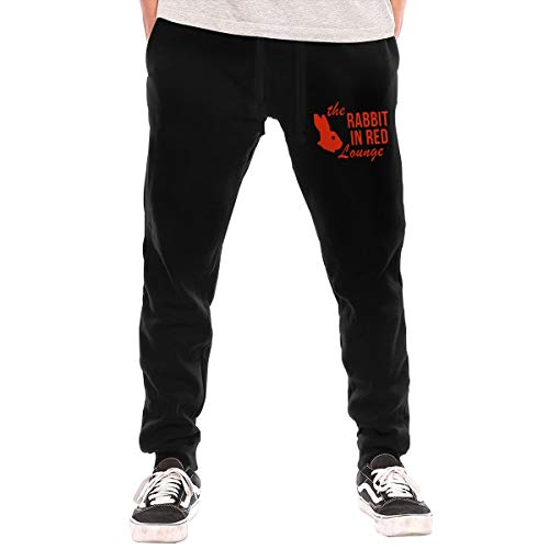 Mens Boys Casual Jogger Pants Sweatpants Bodybuilding Trousers for Athletic Jogging Workout Gym Running Training - 70s Funny Halloween The Rabbit in Red Lounge