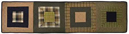 Donna Sharp Valance – Forest Square Lodge Decorative Window Treatment with Colorful Patchwork