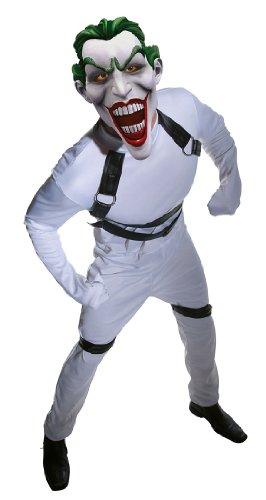 Batman Arkham City Joker's Straightjacket Jumpsuit, White, Standard