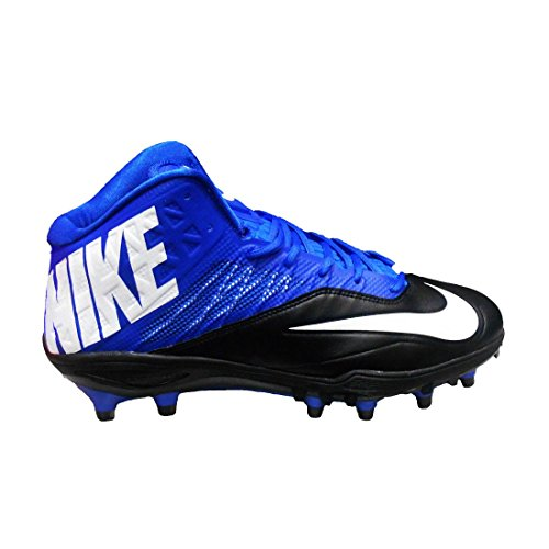 Nike Zoom Kode Elite 3/4 Td Menns Fotball Cleats (12, Svart / Hvit / Sport Royal)