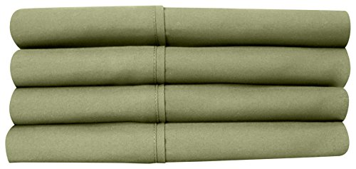 Sweet Home Collection Quality Deep Pocket Bed Sheet Set-2 Extra Pillow Cases, Great Value, Twin X-Large, Sage, 4 Piece