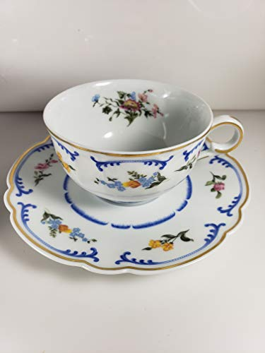 Chas Field Haviland Marjolaine Cup and Saucer ()