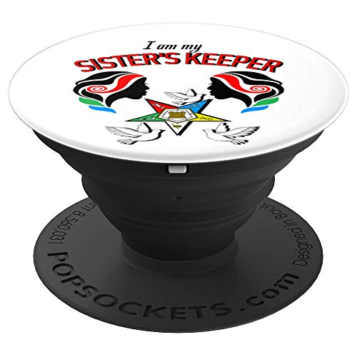 Order Of The Eastern Star Master Logo OES My Sister's Keeper PopSockets Grip and Stand for Phones and Tablets