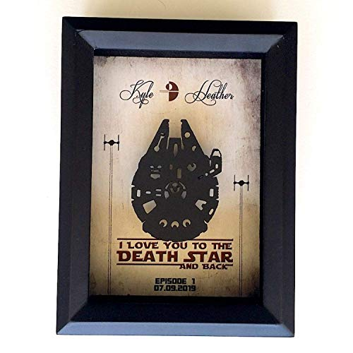 Star Wars Inspired 3D Anniversary Gift For Couple - 5