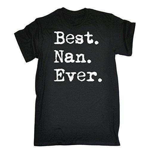 123t Men's Best Nan Ever (XL - BLACK) T-SHIRT nanny grandma granny