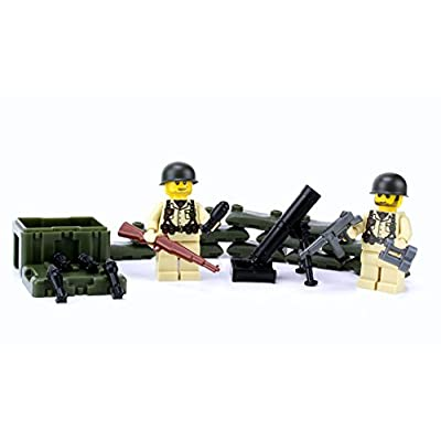 Battle Brick WW2 Mortar Team Playset (SKU70) Custom: Toys & Games