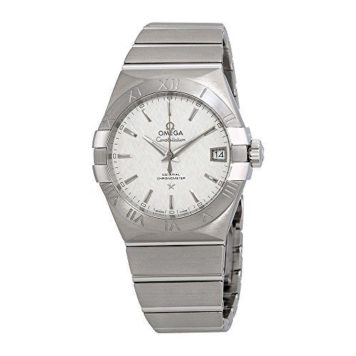 Omega Constellation White Opaline Silvery Dial Automatic Mens Watch 123.10.38.21.02.004