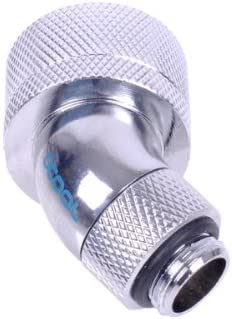 Alphacool Rotary 45 Degree Compression Fitting for 1//2 x 3//4 Tubing Chrome Finish