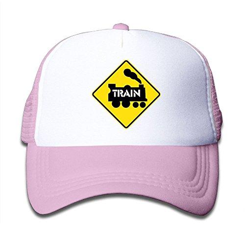 MEHCAP H Train Signs Kid's Trucker Hat Lightweight Mesh Hat,Baseball Cap Train Trucker Hat