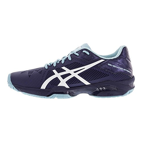 Shoe 8 White Blue Womens Gel Solution Speed Tennis 3 Asics gOzvqW