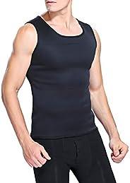 Modelador corporal masculino emagrecedor, camisa de cintura de barriga, colete de emagrecimento elástico, cole
