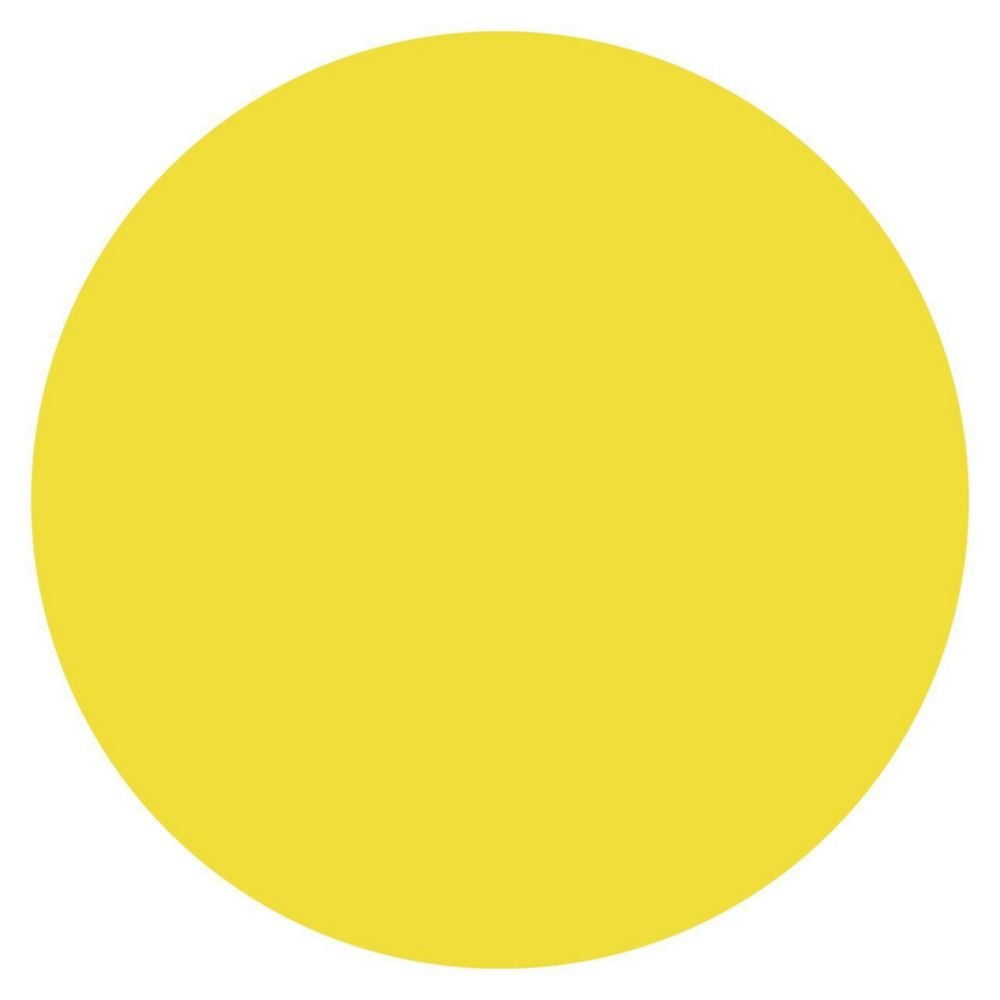 DayMark 112239 MoveMark Yellow 3/4'' Blank Day Circle - 2000 / RL